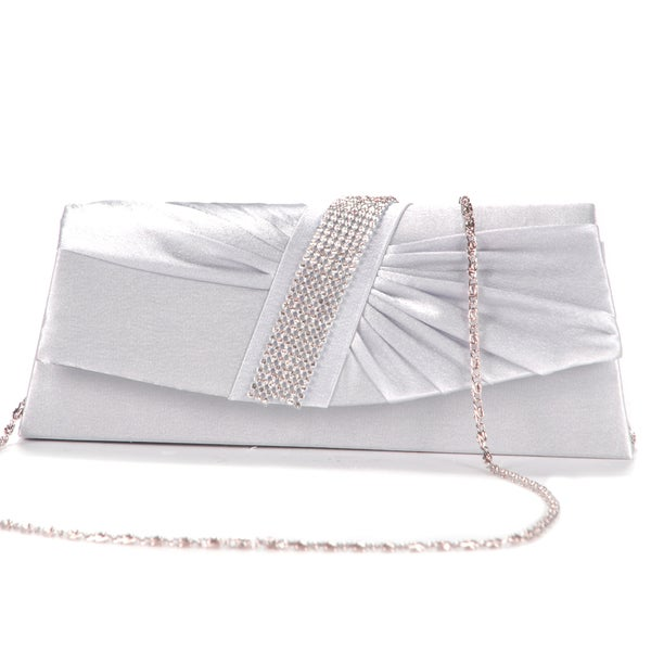 Anladia Women's Satin Pleated Wedding Clutch 14390807