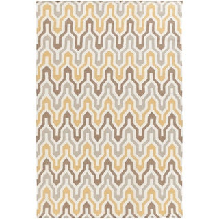 Hand-Woven Dennis Reversible Wool Rug (3'6 x 5'6)