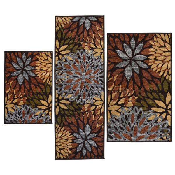 Cleopatra Printed 3 piece Rug Set Overstock