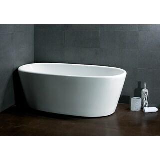 AKDY 67-inch OSF248-AK Oval Europe Style White Acrylic Free Standing Bathtub
