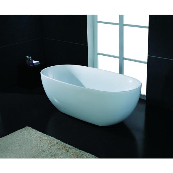 Akdy 67 Inch Osf277 Ak Oval Europe Style White Acrylic