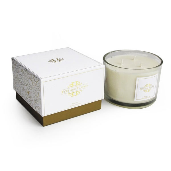 Floral 3-wick White Tea Scent Jar Candle