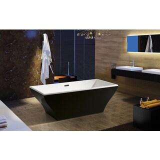 AKDY 67-inch OSF296-B-AK Europe Style White Acrylic Free Standing Bathtub