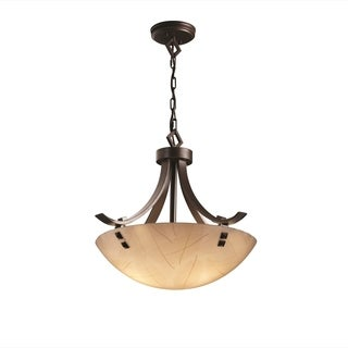Justice Design Group 3Form Flat Bars with Finials 3-light Pendant