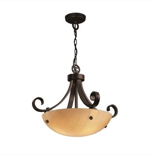 Justice Design Group 3Form Scrolls with Finials 3-light Pendant
