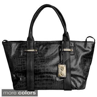 David Jones Women's Faux Crocodile Tote Bag