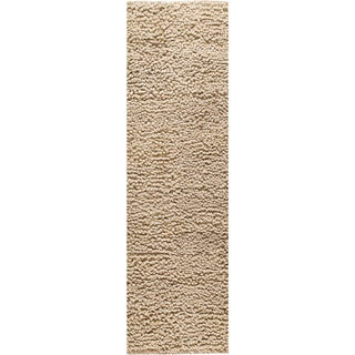 Hand-woven Berb Natural New Zealand Wool Rug (2'8 x 7'10)