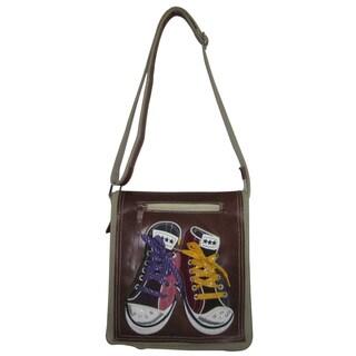 Amerileather Sneakers Crossbody Messenger Bag
