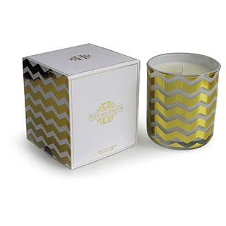 Fitz Floyd Green Chevron Design Summer Pear Candle Display