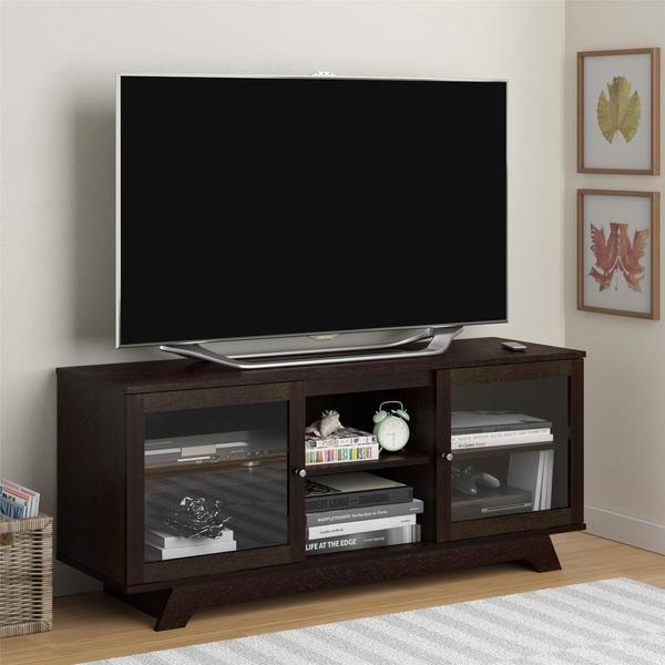 Ameriwood Home Englewood Espresso TV Stand for TVs up to 55 inches 14393279