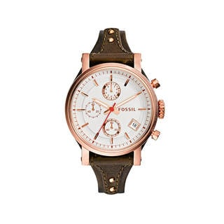 Fossil Women's ES3616 'Original Boyfriend' Chronograph Leather Watch