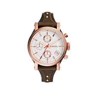 Fossil Women's ES3616 'Original Boyfriend' Chronograph Leather Watch