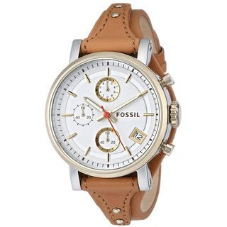 "Fossil Women's ES3615 ""Original Boyfriend"" Chronograph Leather Watch"