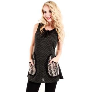 Firmiana Women's Grey Knit Sleeveless Top