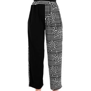 Firmiana Women's Black/ White Long Palazzo Pants