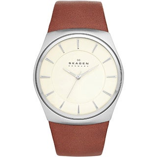 Skagen Men's SKW6084 Havene Men's Stainless Steel Leather Watch