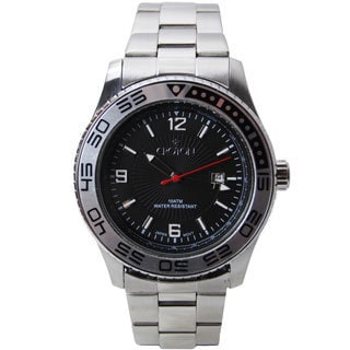 Croton Men's CA301247SSBK Stainless Steel Black Dial Sport Watch