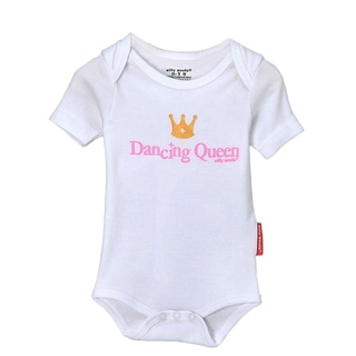 Girls' Dancing Queen Pink/ White Bodysuit