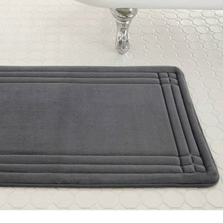 Embossed Memory Foam Geoplex 17-inch by 24-inch Bath Mat