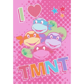 I Love TMNT Blanket and Shaped Pillow Set