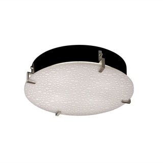 Justice Design 3Form Clips 4-light 16 inch Round Semi-flush Mount
