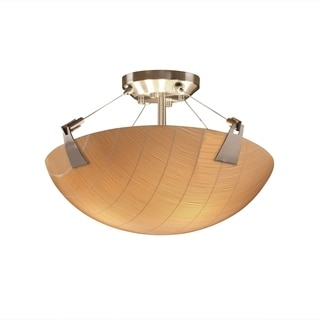 Justice Design 3Form Tapered Clips 3-light Round Semi-flush Mount