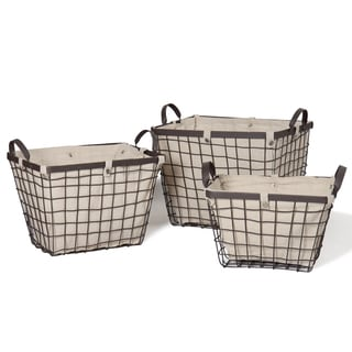 Rectangular Urban Style Baskets (Set of 3)