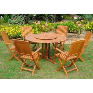 International Caravan Royal Tahiti 'Santiago' Yellow Balau Hardwood 8-piece Dining Set