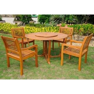 International Caravan Royal Tahiti 'Cordoba' Yellow Balau Hardwood Dining 6-piece Set