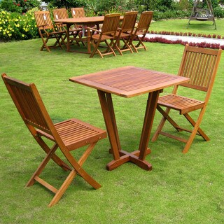 International Caravan Royal Tahiti 'Gandia' Yellow Balau Hardwood 3-piece Bistro Set
