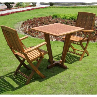 International Caravan Royal Tahiti 'Quinto' Yellow Balau Hardwood 3-piece Bistro Set