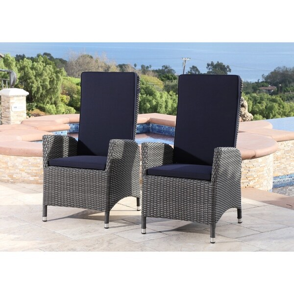 ABBYSON LIVING Bliss Outdoor Pushback Armchair (Set of 2)