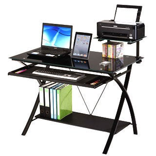 Erma Black Computer Desk