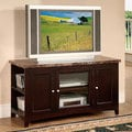 Finely Faux Marble Top TV Stand with Espresso Finish