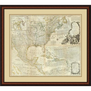 Thomas Jefferys 'Composite: North America, 1776' Framed Art Print 38 x 34-inch