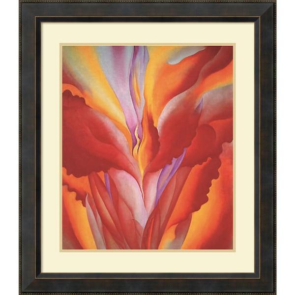 Georgia O'Keeffe 'Red Canna' Framed Art Print 29 x 32-inch