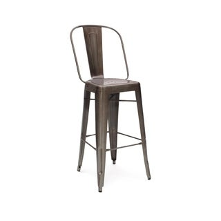 Amalfi Rustic Matte Steel Bar Chair (Set of 4)
