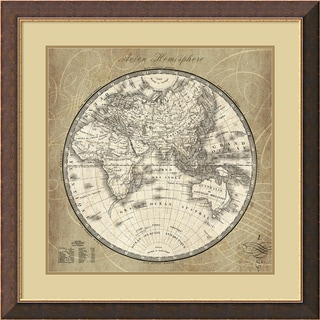 Susan Schlabach 'French World Map II' Framed Art Print 34 x 34-inch