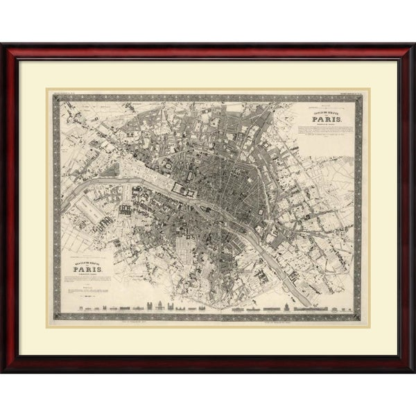 Society for the Diffusion of Useful Knowledge 'Paris, France, 1860' Framed Art Print