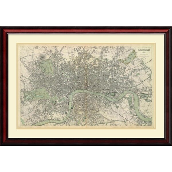 Society for the Diffusion of Useful Knowledge 'London, England, 1843' Framed Art Print 38 x 26-inch