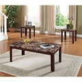 Finely 3-piece Faux Marble Coffee and End Tables