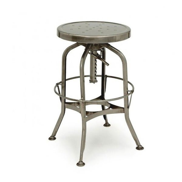 Toledo Adjustable Gunmetal Bar Stool