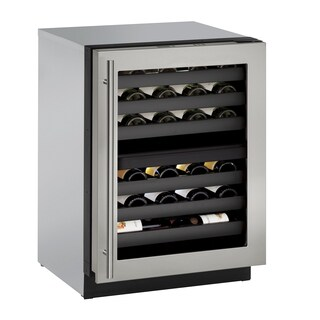 U-Line 3000 Series 3024ZWC 24 Inch Dual Zone Stainless Steel Wine Captain