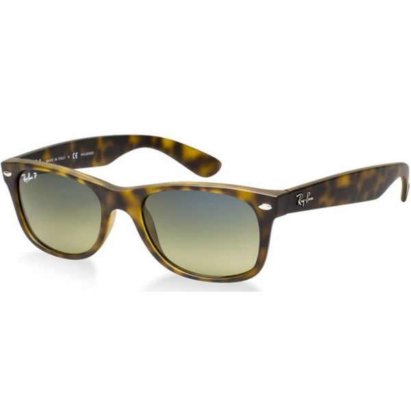 Ray-Ban RB 2132 New Wayfarer 894/76 Tortoise Green Polarized Sunglasses 14396125