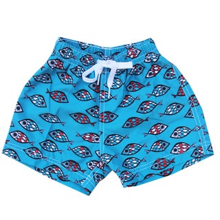 Azul Swimwear Blue Fish Eye Boys' Swim Shorts