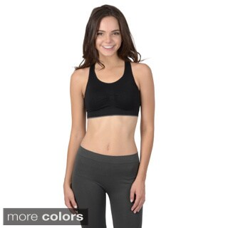 Hailey Jeans Co. Junior's Seamless Racerback Sports Bra
