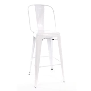 Amalfi Glossy White Steel 30-inch Bar Chair (Set of 4)