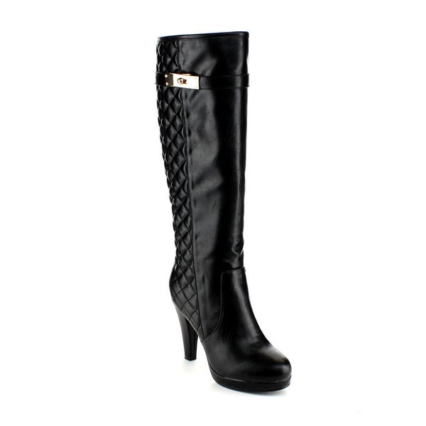Reneeze Women's 'Mimi-04' Quilted Zip Knee-high Boots