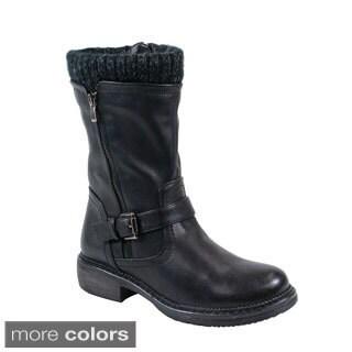 Reneeze Women's 'Norma-01' Mid-calf Combat Boots
