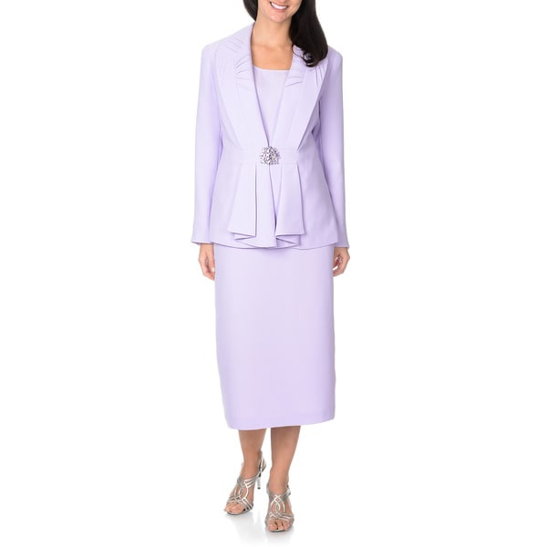 Giovanna Signature Women's Lilac 3-piece Skirt Suit